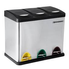 Mülltrennsystem Edelstahl für die Küche 3x8 Liter