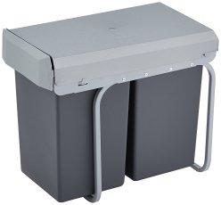 Wesco Mülleimer für Küche Unterschrank 2x15l