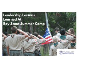 Leadership Lessons Learned At Camp