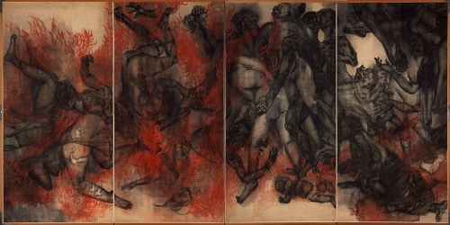 Iri und Toshi Maruki:  »Fire (Panel II)« aus der Serie »Hiroshima Panels«| 1950–82 | © Maruki Gallery For The Hiroshima Panels Foundation