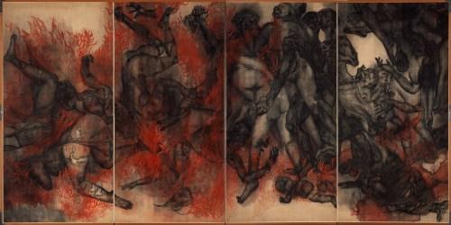Iri und Toshi Maruki:  »Fire (Panel II)« aus der Serie »Hiroshima Panels«| 1950–82 | © Maruki Gallery For The Hiroshima Panels Foundation