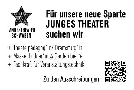 Landestheater Schwaben Stellenanzeige