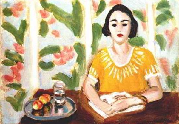 Henri Matisse: Lecture femme avec des pêches, 1923.
