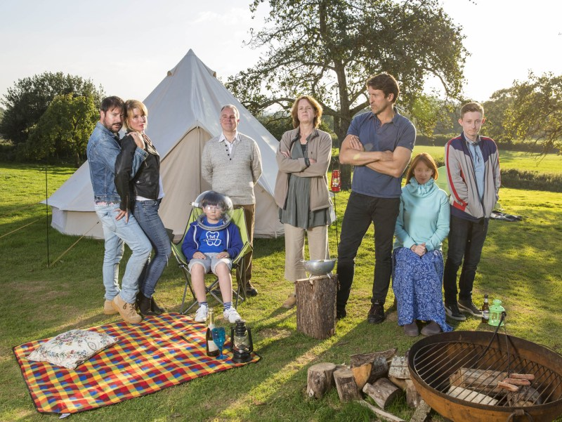 Camping TV programme SPECIAL - CAST GROUP SHOT image from Sky TV