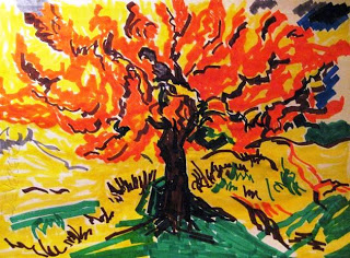 my van gogh mulberry tree in Crayola Markers___ ac