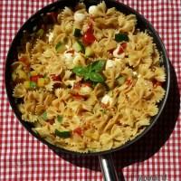 Cukkinis-mozzarellás pasta