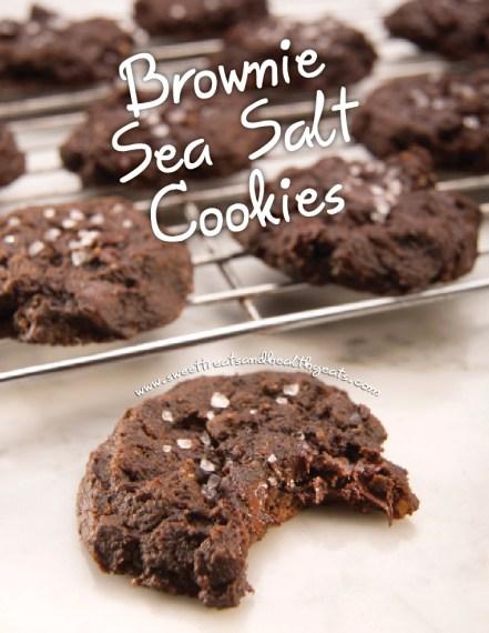 Brownie Sea Salt Cookies by Sweet Treats and Healthy Eats