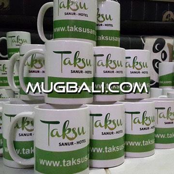 Contoh cetak mug pesanan hotel Taksu Sanur Denpasar Bali