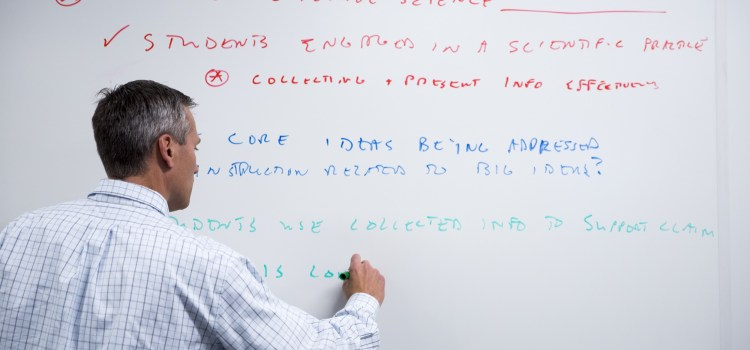 Bumbling Doofus of Professor Makes Mistake on Whiteboard