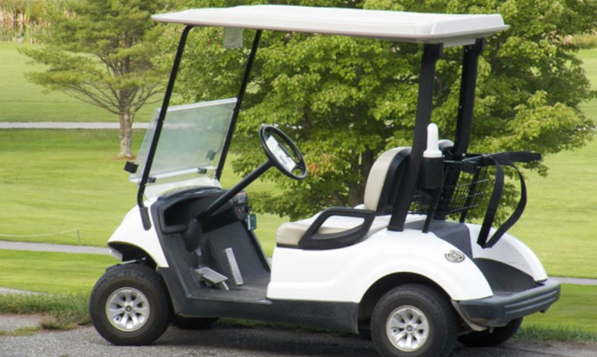 Student Driving Golf Cart So Cool, So Fancy