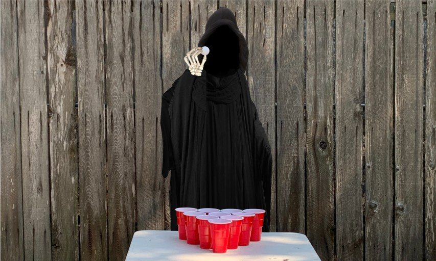 Grim Reaper Accepts Fraternity Bid