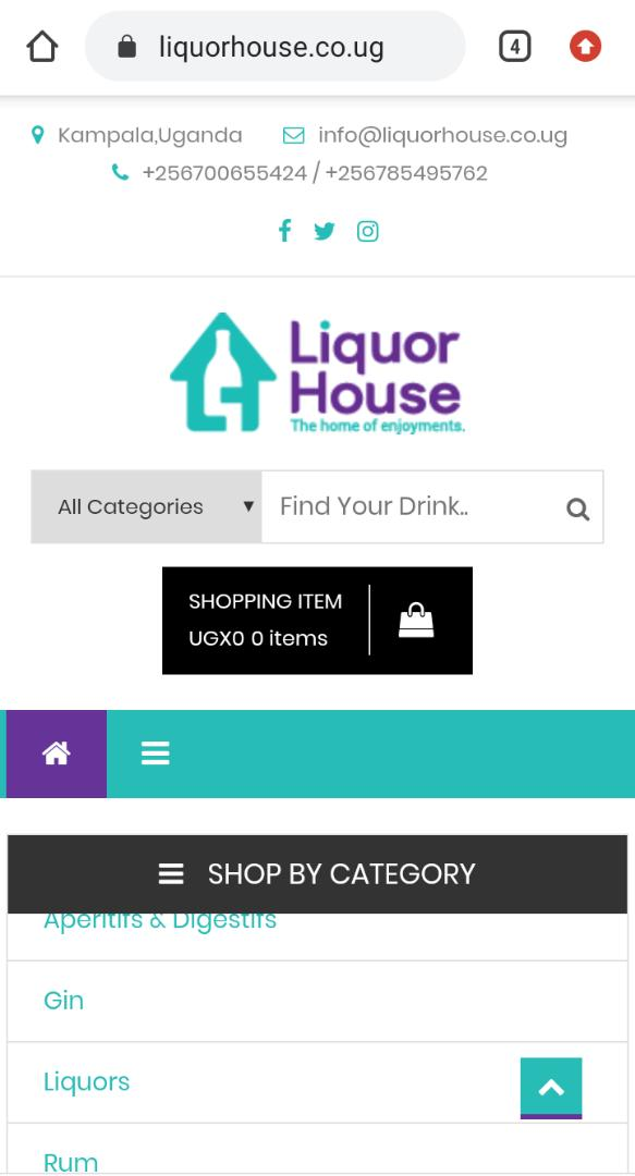 Ugandan Online Liquor store Liquor House brings enjoyments even closer to you with launch of new web delivery platform. 6 MUGIBSON WRITES
