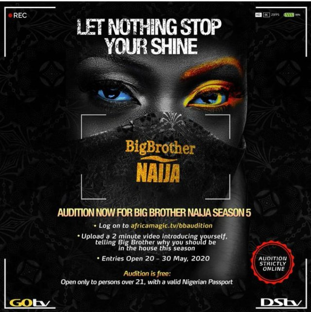 Big Brother Naija returns in season 5. Here's how to audition:- 3 MUGIBSON WRITES