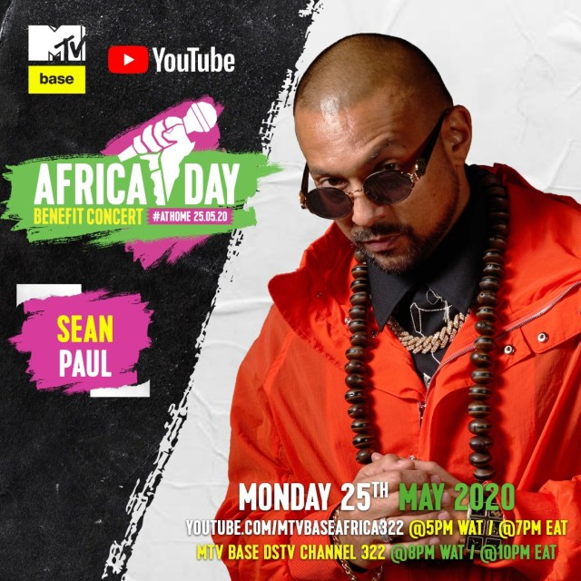 """Bebe Cool, Sean Paul, Nasty C, Teni, Sho Madjozi and more to perform in the """"Africa Day"""" Benefit Concert At Home. 4 MUGIBSON WRITES"""