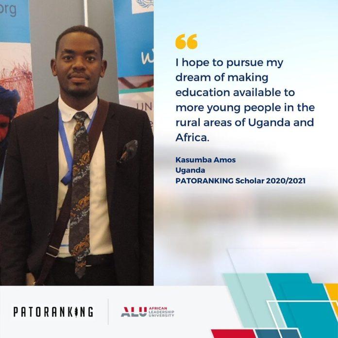 Uganda's Amos Kasumba and 9 other scholars to benefit from the 2020/21 Patoranking Scholarship Program 2 MUGIBSON
