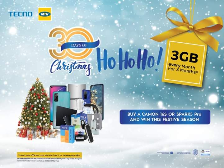 Phones, Fridges, Blenders and more up for grabs in TECNO's 30 Days of 'Christmas with TECNO' campaign 1 MUGIBSON WRITES