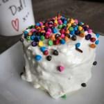 birthday cake microwave cake