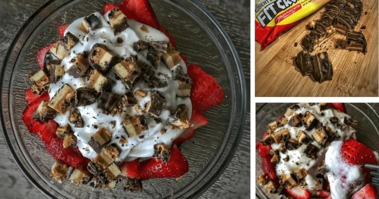 Protein Bar Parfait: A High Protein Strawberries and Cream Dessert