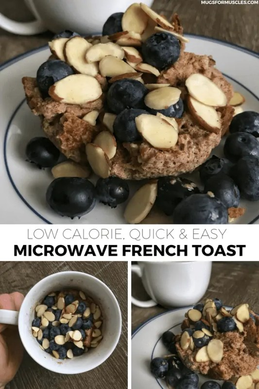 A 5-ingredient microwave French toast recipe that you can put your own creative spin on with toppings for an infinite number of healthy breakfasts.