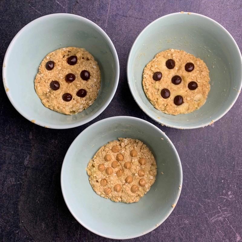 banana chocolate chip microwave cookie recipe 2