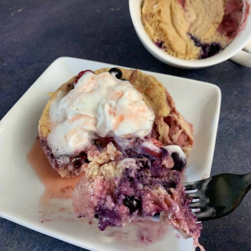cherry protein mug pancake