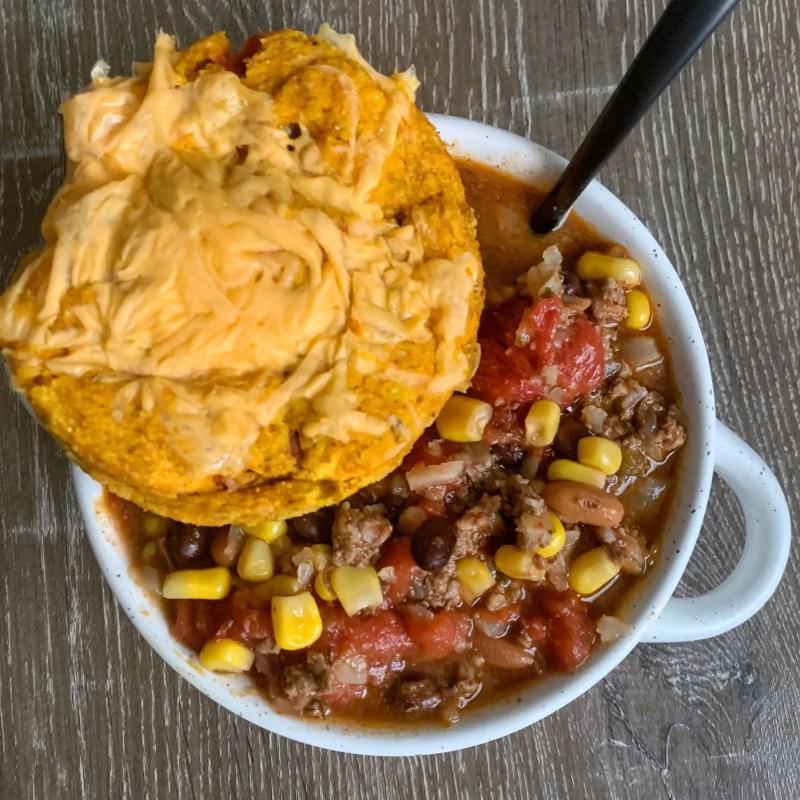 healthier mexican cornbread in a mug