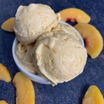 high protein peach cobbler ice cream