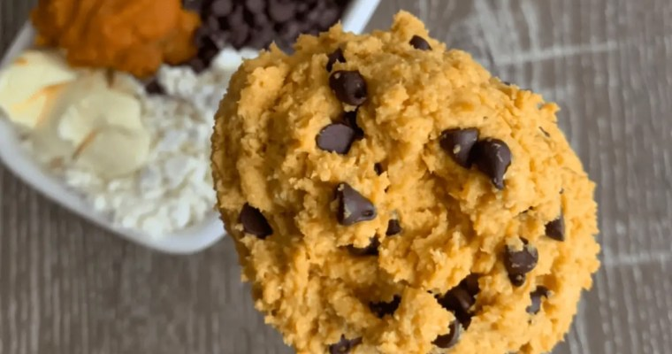 Single Serving Peanut Butter Chocolate Chip Protein Cookie Dough