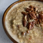carrot cake protein oats recipe