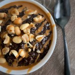 high protein snickers oatmeal recipe