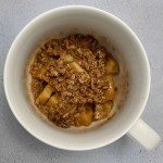 microwave apple crisp recipe overhead photo