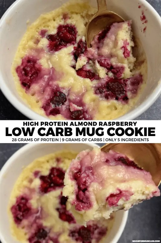Need a low carb sweets fix? This quick and easy low carb mug cookie is warm, gooey, and loaded with 28 grams of protein.