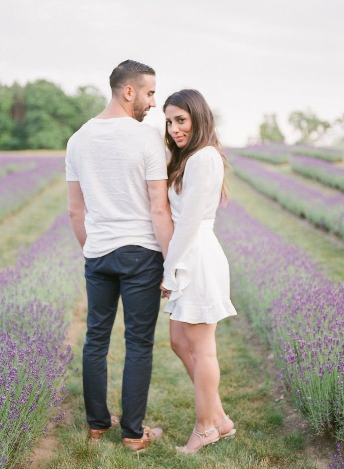 Romantic Engagement Session in a Lavender Field | Muguet Photography