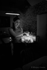 Girl with candels