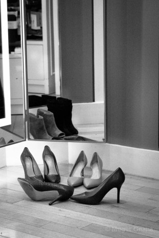 Mirror and shoes