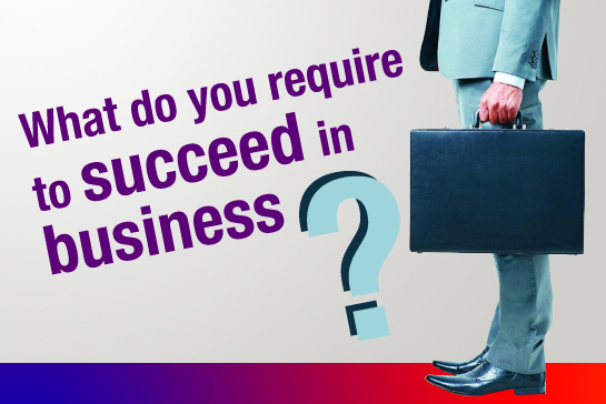 What do you require to succeed in business?