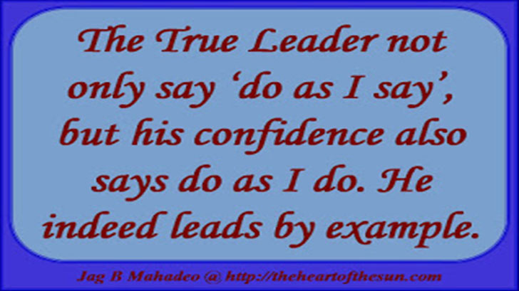 Successful leaders lead by example