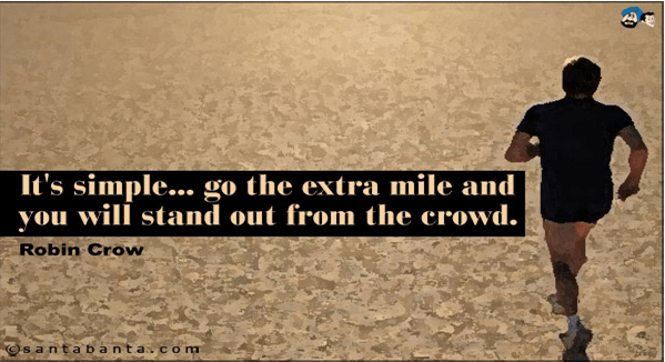 Going Extra mile