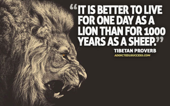 It is better to live one day as a successful person than 100 years as a failure