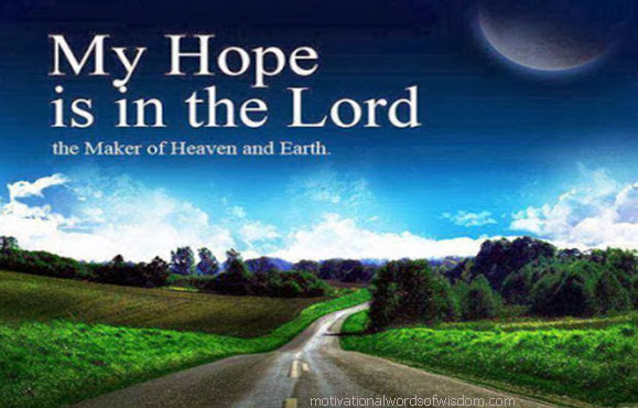 Lord you are my hope