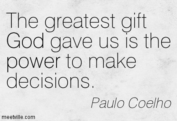 Lord guide us to make right decisions
