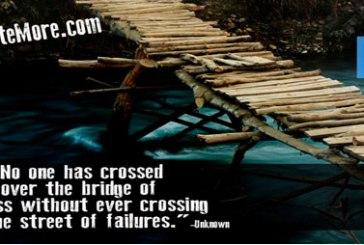 Crossing your bridge of success