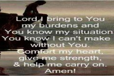 Lord do not leave us alone