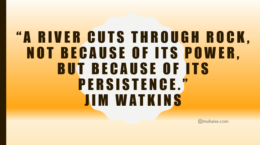 Inspirational quote on persistence