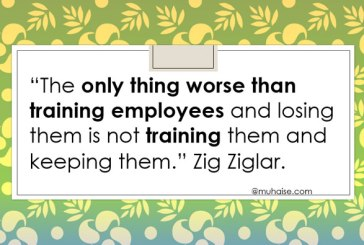 Inspirational quote on employee training