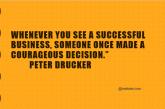 Courageous decision