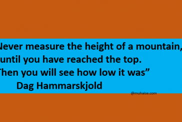 You measure your success after the job is done