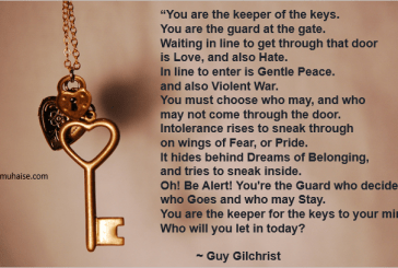 You are the keeper of the keys