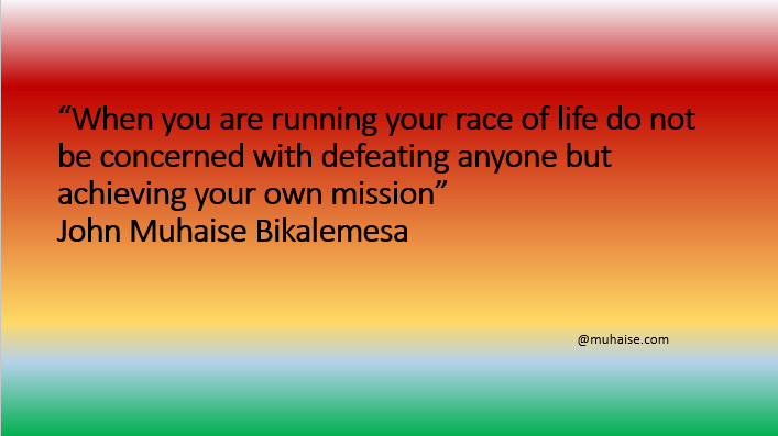 Running your own race