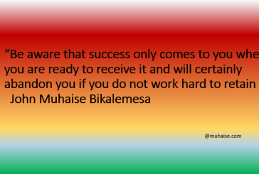 Success only comes when you are ready to receive it